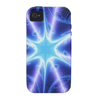 Electric Blue Techno Spider Web iPhone 4/4S Case