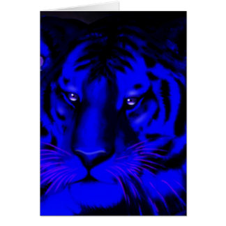 Electric Blue Tiger Card