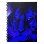Electric Blue Tiger Note Book