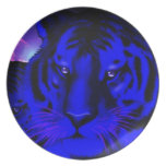 Electric Blue Tiger Plate