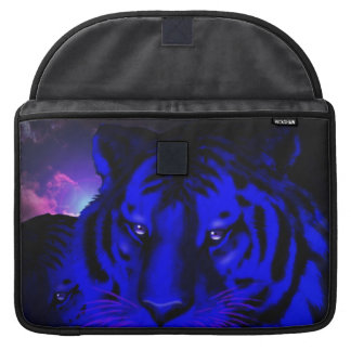 Electric Blue Tiger Sleeve For MacBook Pro