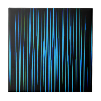 ELECTRIC BLUE TILE (an abstract art design) ~