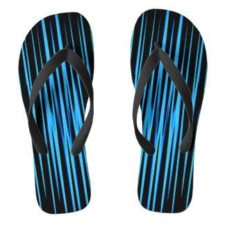 ELECTRIC BLUE TILE (an abstract art design) ~.jpg Flip Flops