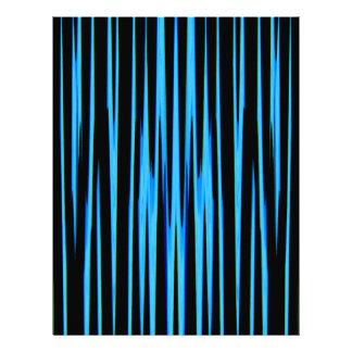 ELECTRIC BLUE TILE (an abstract art design) ~ Letterhead
