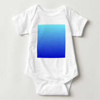 Electric Blue to Medium Blue Horizontal Gradient Baby Bodysuit