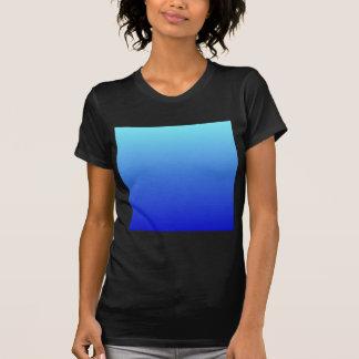 Electric Blue to Medium Blue Horizontal Gradient Tee Shirts