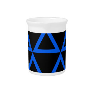 Electric Blue Triangle Drink Pitchers
