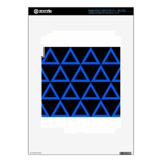 Electric Blue Triangle iPad 3 Skins