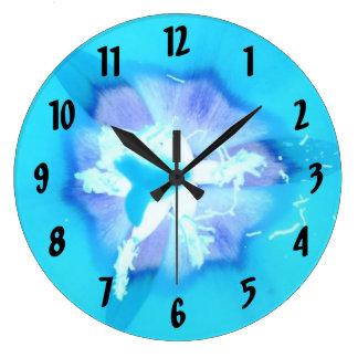 Electric Blue Tulip Clocks
