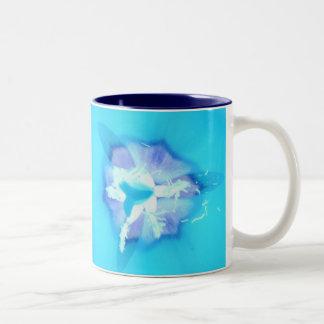 Electric Blue Tulip Two-Tone Coffee Mug