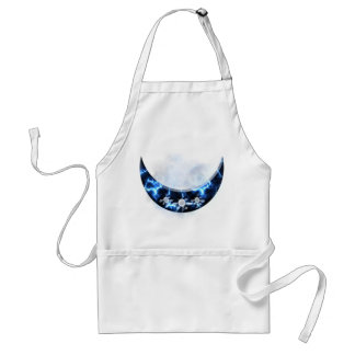 Electric Blue Upright Crescent Adult Apron