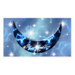 Electric Blue Upright Crescent Double-Sided Standard Business Cards (Pack Of 100)