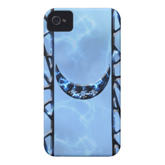 Electric Blue Upright Crescent Case-Mate iPhone 4 Cases