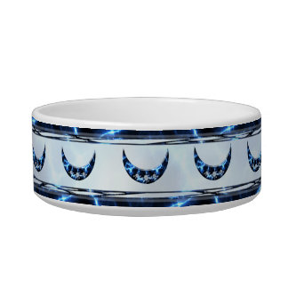Electric Blue Upright Crescent Cat Water Bowl