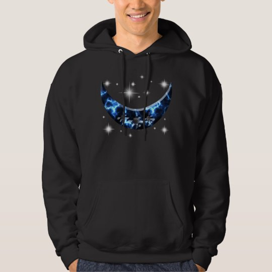 Electric Blue Upright Crescent Hoodie