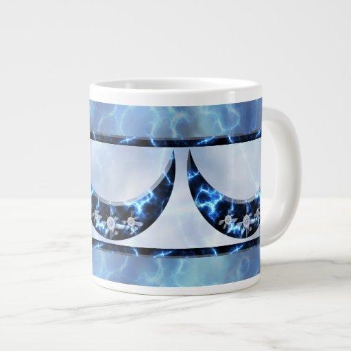 Electric Blue Upright Crescent Jumbo Mug
