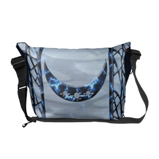 Electric Blue Upright Crescent Commuter Bags