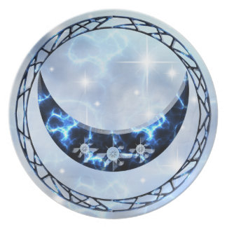 Electric Blue Upright Crescent Plate