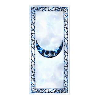 Electric Blue Upright Crescent Personalized Rack Card