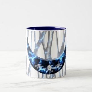 Electric Blue Upright Crescent Two-Tone Coffee Mug