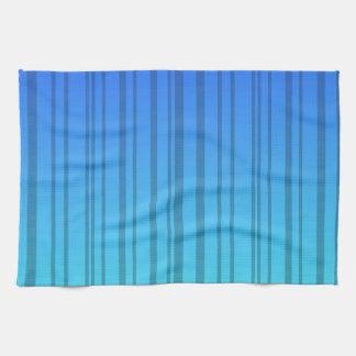 Electric Blue Vertical Stripes; Striped Kitchen Towel