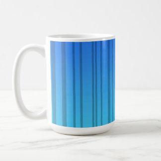 Electric Blue Vertical Stripes; Striped Classic White Coffee Mug