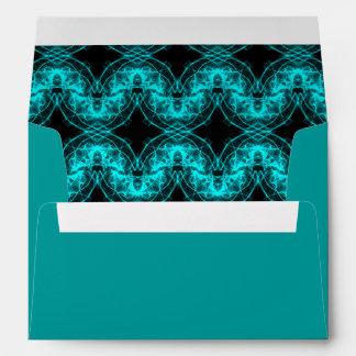 Electric blue waves envelope
