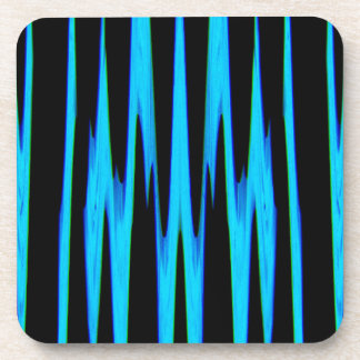 ELECTRIC BLUE wrap (an abstract art design) ~ Beverage Coaster