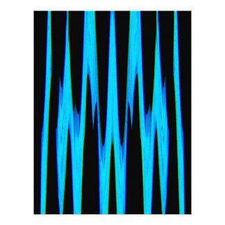 ELECTRIC BLUE wrap (an abstract art design) ~ Letterhead