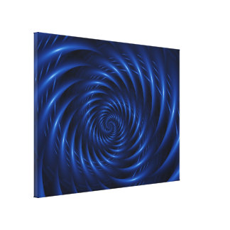Electric Blue Wrapped Canvas Canvas Print