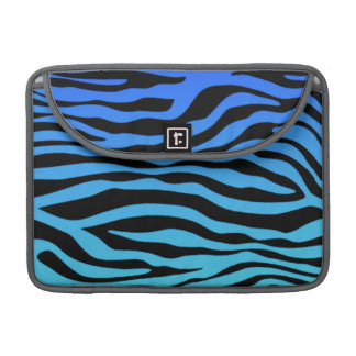 Electric Blue Zebra Stripes Animal Print Sleeve For MacBooks