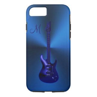Electric Blues Guitar Monogram iPhone 7 Case