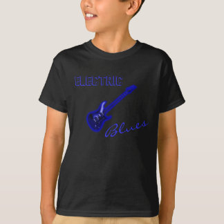 Electric Blues Neon Blue Guitar T-Shirt