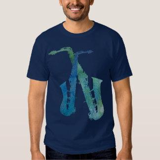 Electric Blues Saxes T-Shirt