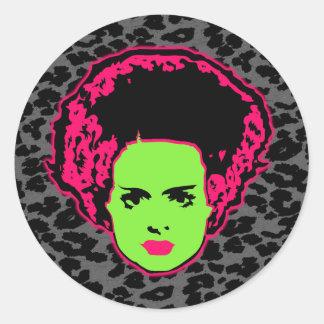 Electric Bride Classic Round Sticker