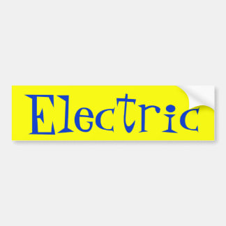 Electric Bumper Sticker