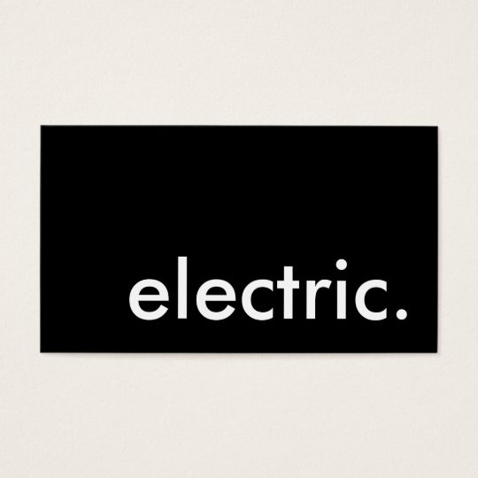 electric. business card