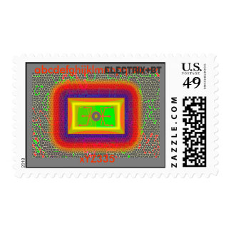 electric butterfly postage stamp