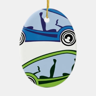 Electric Car Ceramic Ornament