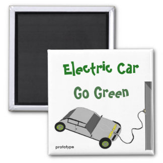 Electric Car Go Green Magnet