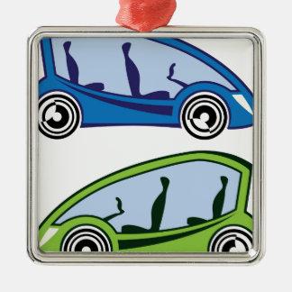 Electric Car Metal Ornament