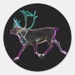Electric Caribou Classic Round Sticker