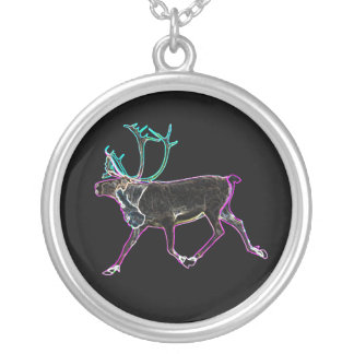 Electric Caribou Silver Plated Necklace