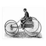 Electric Cart - Vintage Victorian Illustration Postcard