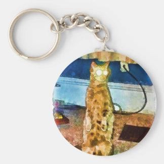 Electric cat card.jpg keychain