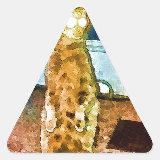 Electric cat card.jpg triangle sticker