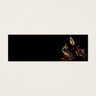 Electric cat face profile bookmark mini business card