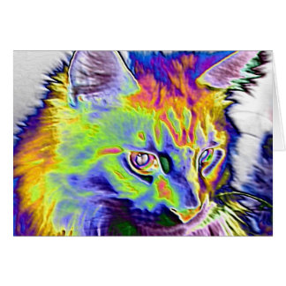 Electric Cat Greeting Cards