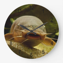 Electric catfish large clock