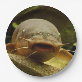 Electric catfish paper plate